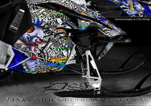 "YAMAHA SRVIPER SR VIPER TURBO 2014-2015 SLED GRAPHICS WRAP ""TICKET TO RIDE"" - Darkside Studio Arts LLC."