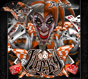 """LUCKY"" GRAPHICS WRAP FITS KTM 2008-2011 EXC XCW 250 300 450 525 - Darkside Studio Arts LLC."