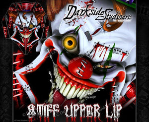 KAWASAKI JETSKI ULTRA SERIES 'STIFF UPPER LIP' HOOD WRAP DECAL GRAPHICS KIT - Darkside Studio Arts LLC.
