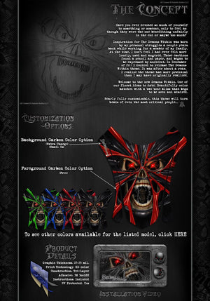 """THE DEMONS WITHIN"" GRAPHICS WRAP DECAL KIT FITS KTM 2008-2020 SMC690 LC4 SMC-R - Darkside Studio Arts LLC."