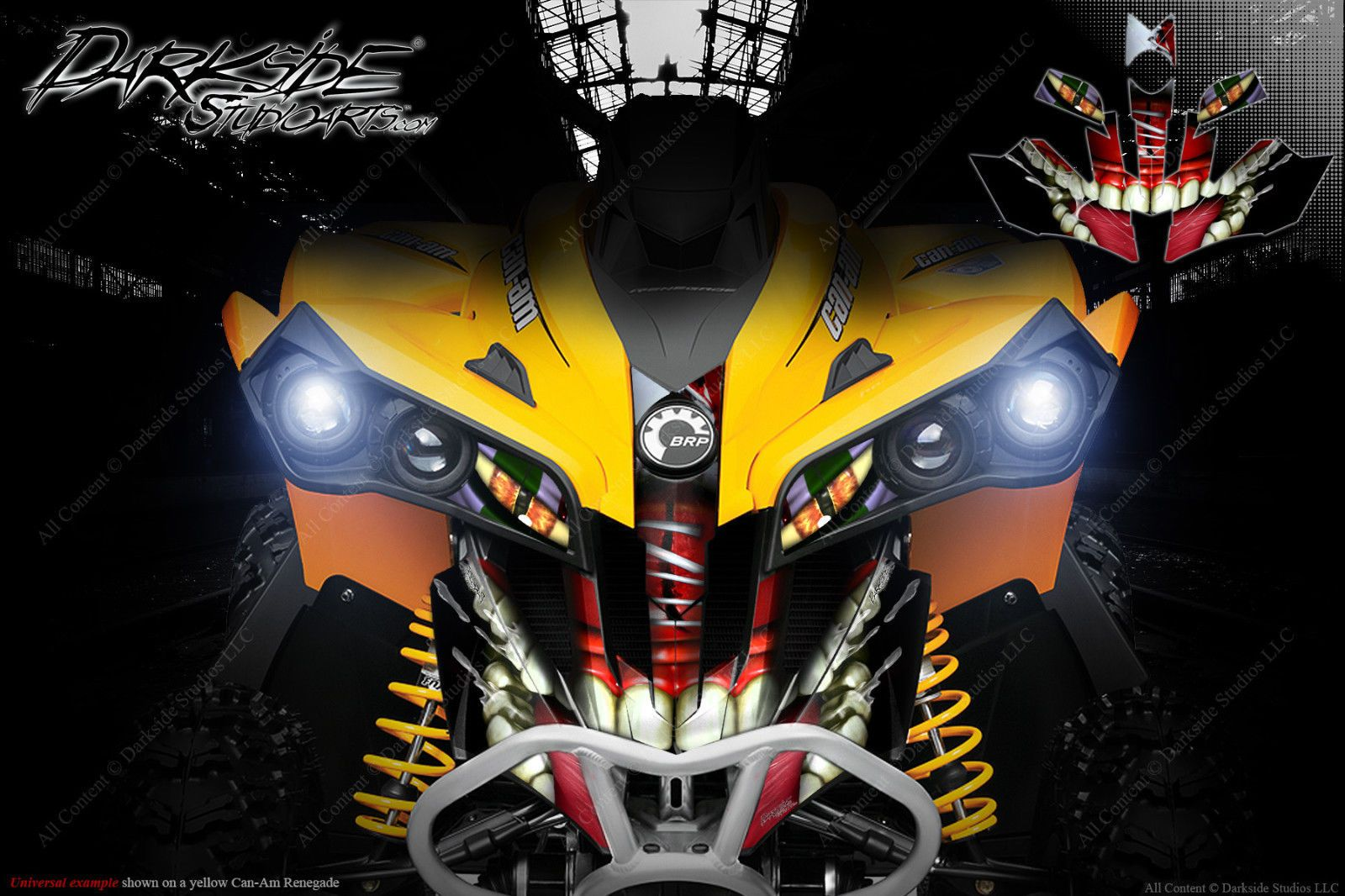 "CAN-AM RENEGADE GRAPHICS DECALS SET /""THE DEMONS WITHIN/"" FOR OEM PLASTICS"