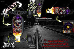 LOSI TEN-SCBE CHASSIS WRAP KIT 'PYRO' HOP UP DECAL SET FITS LOS231001 SKID - Darkside Studio Arts LLC.
