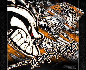 """GEAR HEAD"" GRAPHICS WRAP FITS KTM 1998-2008 SX50 SX65 KTM65 KTM50 65SX 50SX - Darkside Studio Arts LLC."