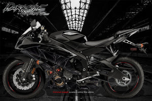 "YAMAHA R1 R3 R6 2008-2018 ""THE DEMONS WITHIN"" GRAPHICS WRAP FOR FAIRING SHROUDS - Darkside Studio Arts LLC."