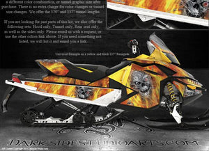 "SKI-DOO 08-12 XP REV MXZ SUMMIT ""MACHINEHEAD"" FIRE EDITION GRAPHICS RENEGADE - Darkside Studio Arts LLC."