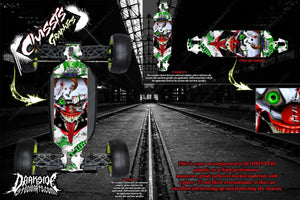 LOSI 8IGHT-E 4.0 CHASSIS WRAP KIT 'STIFF UPPER LIP' HOP UP DECALS FITS OEM TLR241020 PARTS - Darkside Studio Arts LLC.