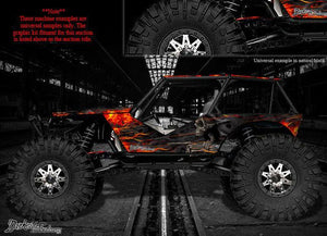 "AXIAL WRAITH ROCK RACER WRAP GRAPHICS ""HELL RIDE"" FITS OEM BODY PARTS 1/10 - Darkside Studio Arts LLC."