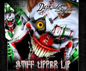YAMAHA RAPTOR 350 (ALL YEARS) WRAP DECAL GRAPHIC SET KIT 'STIFF UPPER LIP' - Darkside Studio Arts LLC.