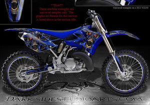"YAMAHA 1998-2002 YZ250F YZ400F YZ426F GRAPHICS KIT ""THE DEMONS WITHIN"" DECALS - Darkside Studio Arts LLC."