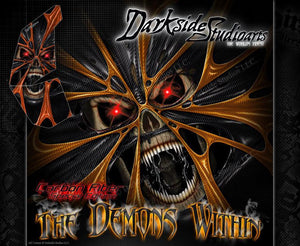 """THE DEMONS WITHIN"" DECAL KIT FITS KTM 450XC 525XC 450SX 525SX GRAPHICS WRAP - Darkside Studio Arts LLC."