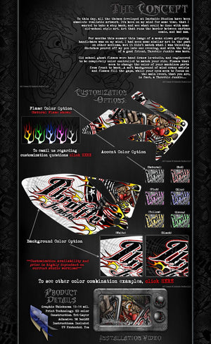 "AXIAL WRAITH GRAPHICS DECALS WRAP ""THROTTLE JUNKIE"" FITS OEM BODY PANELS - Darkside Studio Arts LLC."