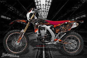 "YAMAHA 1995-2006 WR250F WR426F WR450F ""HELL RIDE"" GRAPHICS WRAP FITS OEM PARTS - Darkside Studio Arts LLC."