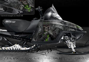 "ARCTIC CAT M-SERIES M8 M7 2006-2011 WRAP GRAPHICS ""THE OUTLAW"" BLACK CROSSFIRE - Darkside Studio Arts LLC."