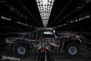 "LOSI 5IVE T 4WD TRUCK DECAL GRAPHIC WRAP FITS OEM PARTS 1/5 ""THE OUTLAW"" BLACK - Darkside Studio Arts LLC."