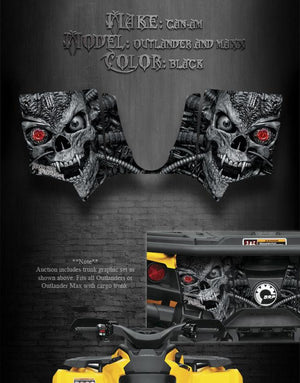 "CAN-AM OUTLANDER & MAX TRUNK GRAPHICS DECAL STICKER KIT ""MACHINEHEAD"" - Darkside Studio Arts LLC."