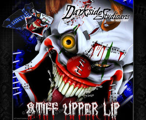 "YAMAHA 1995-2006 WR250F WR426F WR450F ""STIFF UPPER LIP"" GRAPHICS WRAP DECAL KIT - Darkside Studio Arts LLC."
