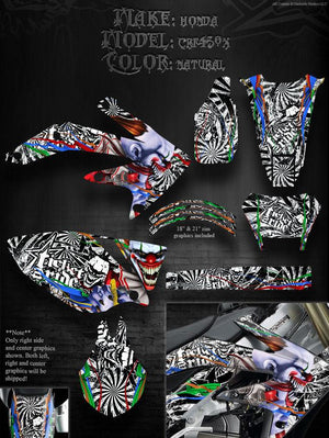 "HONDA 2005-2013 CRF450X 450X GRAPHICS ""TICKET TO RIDE"" RIM DECALS FITS OEM PARTS - Darkside Studio Arts LLC."