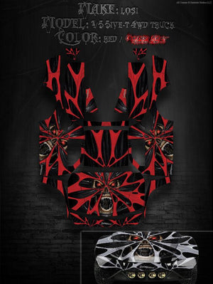 "LOSI 5IVE T 4WD TRUCK WRAP GRAPHIC DECAL KIT ""THE DEMONS WITHIN"" FITS OEM PANELS - Darkside Studio Arts LLC."
