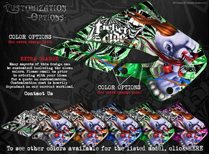"SKI-DOO 2013-2015 XM REV SUMMIT ""TICKET TO RIDE"" SIDE PANEL GRAPHICS WRAP DECALS - Darkside Studio Arts LLC."