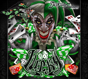 "KAWASAKI 2006-2017 KXF450 ""LUCKY"" GRAPHICS WRAP DECAL KIT FITS OEM PARTS - Darkside Studio Arts LLC."