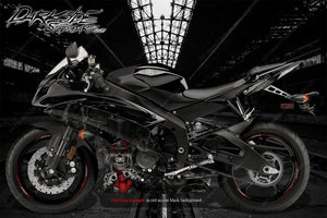 "YAMAHA R1 R3 R6 2008-2018 ""THE OUTLAW"" GRAPHICS WRAP FOR FAIRING & SHROUDS ONLY - Darkside Studio Arts LLC."