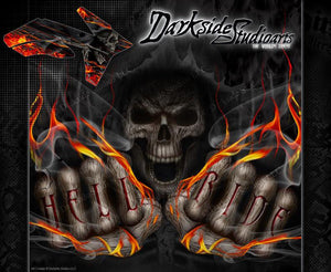"""HELL RIDE"" GRAPHICS DECALS FITS KTM 2011-2016 SX SXF 250 300 450 525 - Darkside Studio Arts LLC."