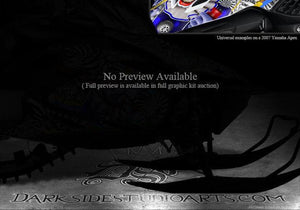 "YAMAHA APEX 2011-2015 HOOD DECAL KIT GRAPHICS WRAP ""TICKET TO RIDE"" - Darkside Studio Arts LLC."