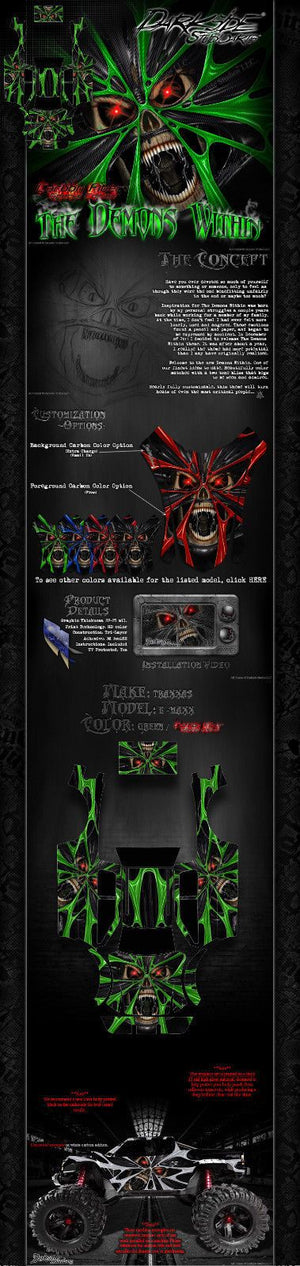 "TRAXXAS E-MAXX GRAPHICS WRAP DECALS ""THE DEMONS WITHIN"" FITS TRA3911 OEM BODY PARTS - Darkside Studio Arts LLC."