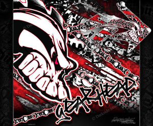 "HONDA 2004-2009 CRF250 GRAPHICS WRAP ""GEAR HEAD"" DECAL KIT GRAPHICS - Darkside Studio Arts LLC."