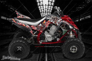 "YAMAHA 2006-2012 RAPTOR 700 GRAPHICS WRAP KIT ""LUCKY"" FITS OEM PLASTICS & PARTS - Darkside Studio Arts LLC."