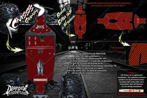 LOSI LST 3XL-E CARBON FIBER CHASSIS SKID PLATE WRAP DECAL KIT HOP UP SET RED - Darkside Studio Arts LLC.