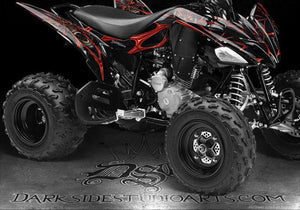 "YAMAHA BLASTER 1990-2002 GRAPHICS ""THE DEMONS WITHIN"" DECALS FOR OEM PLASTICS - Darkside Studio Arts LLC."