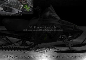 "ARCTIC CAT M-SERIES CROSSFIRE M8 M7 2006-2011 HOOD GRAPHICS ""THE OUTLAW"" BLACK - Darkside Studio Arts LLC."