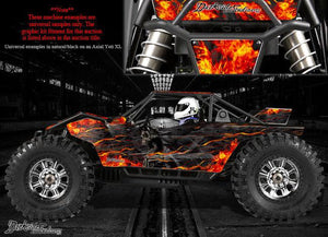 "AXIAL YETI MONSTER BUGGY XL DECALS GRAPHICS ""HELL RIDE"" FITS OEM PARTS 1/8 SCALE - Darkside Studio Arts LLC."