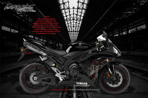 "YAMAHA 2002-2014 YZF-R1 ""THE OUTLAW"" GRAPHICS WRAP FOR SHROUD COWLING FAIRING - Darkside Studio Arts LLC."
