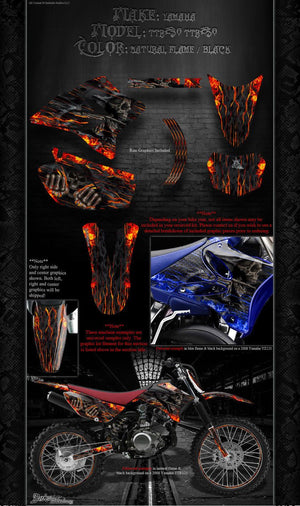 "YAMAHA 2005-2012 TTR230 TTR250 ""HELL RIDE"" GRAPHICS WRAP FITS OEM PLASTICS - Darkside Studio Arts LLC."