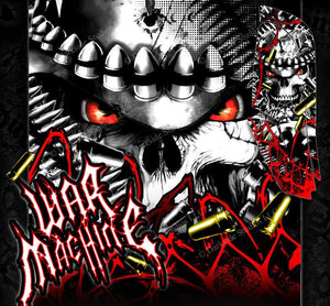 "YAMAHA RAPTOR 660 GRAPHICS WRAP DECAL KIT ""WAR MACHINE"" FITS OEM PARTS - Darkside Studio Arts LLC."