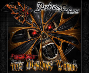 """THE DEMONS WITHIN"" GRAPHICS WRAP DECALS FITS KTM 2008-2016 SMR450 SMR525 SMR560 - Darkside Studio Arts LLC."