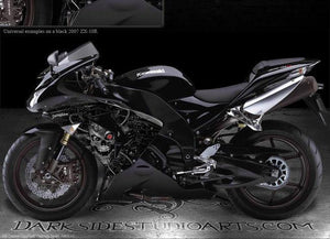 "KAWASAKI ZX-10R 2006-2007 ""MACHINEHEAD"" GRAPHICS FOR BLACK FAIRING FENDER PARTS - Darkside Studio Arts LLC."