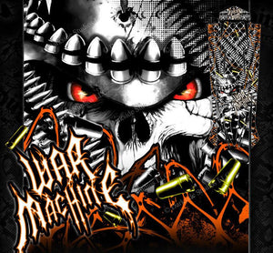 "TRAXXAS SPARTAN BOAT WRAP GRAPHICS KIT ""WAR MACHINE"" HOP UP DECAL KIT FOR HULL - Darkside Studio Arts LLC."
