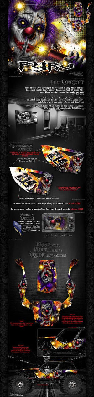 "AXIAL WRAITH ROCK RACER WRAP GRAPHICS ""PYRO"" FITS OEM BODY PARTS 1/10 - Darkside Studio Arts LLC."