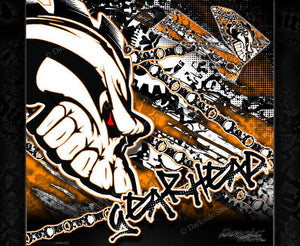 """GEAR HEAD"" GRAPHICS WRAP FITS KTM 1998-2006 SX SXF 250 300 450 525 - Darkside Studio Arts LLC."
