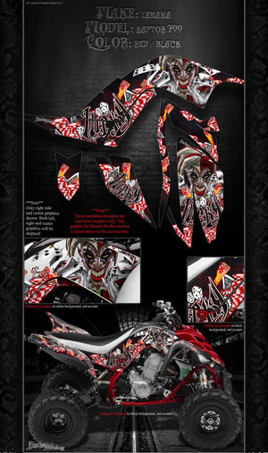 "YAMAHA 2006-2012 RAPTOR 700 GRAPHICS WRAP KIT ""LUCKY"" FITS OEM PARTS DECAL SET - Darkside Studio Arts LLC."