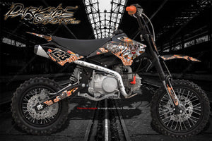 "COBRA GRAPHICS WRAP DECALS ALL MODELS 2002-2016 ""LUCKY"" CX50 CX65 KING JR SR - Darkside Studio Arts LLC."