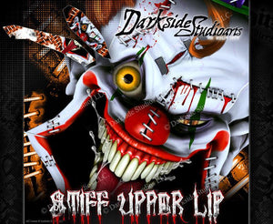 """STIFF UPPER LIP"" GRAPHICS WRAP DECAL KIT FITS KTM 2008-2020 SMC690 LC4 SMC-R - Darkside Studio Arts LLC."