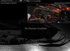 "YAMAHA 2005-2007 RS VECTOR TURBO RX1 04-06 WARRIOR ""HELL RIDE"" WRAP GRAPHICS KIT - Darkside Studio Arts LLC."