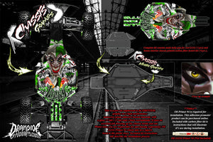 TRAXXAS SLASH 2WD LCG CHASSIS PARTS 'LUCKY' HOP UP GRAPHICS DECALS WRAP GREEN - Darkside Studio Arts LLC.