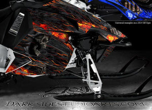 "YAMAHA SRVIPER SR VIPER TURBO 2014-2015 SLED GRAPHICS WRAP ""HELL RIDE"" DECALS - Darkside Studio Arts LLC."