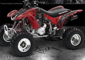 "HONDA 300EX TRX300EX 1993-2006 ATV GRAPHICS DECALS ""THE OUTLAW"" FOR RED PARTS - Darkside Studio Arts LLC."