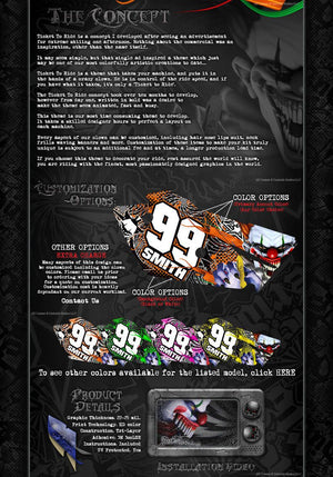 """TICKET TO RIDE"" GRAPHICS WRAP KIT FITS KTM 2003-2017 SX85 SX105 KTM85 - Darkside Studio Arts LLC."